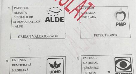 Cum va arăta buletinul de vot pentru alegerea președintelui Consiliului Județean Sălaj