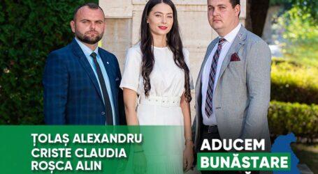 Echipa tânără de candidaţi PNŢCD pentru Consiliul Local Cizer aduce bunăstare acasă