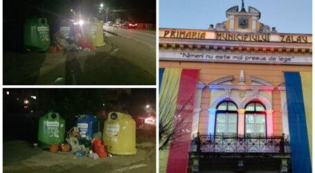 Groapa de gunoi din Zalău! Responsabilii de curățenie au avut astăzi program până la 13:30