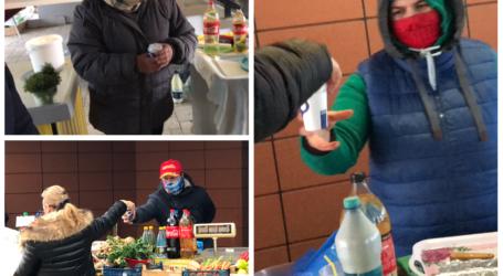 VIDEO. JOS PĂLĂRIA! Piețarii din Zalău au primit un ceai cald de la administrație