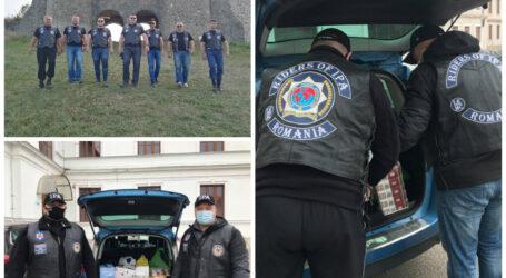 Clubul moto din cadrul Asociației Internaționale a Polițiștilor, DONAȚIE importantă pentru copii care adorm flămânzi din Sălaj