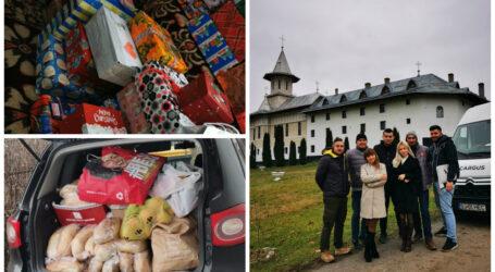 Un grup de tineri din Sălaj, curieri ai firmei Cargus, DONAȚIE importantă pentru copiii îngrijiți la Mănăstirea BIC