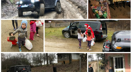Cei mai izolați sălăjeni au primit înainte de Crăciun o DONAȚIE nesperată de la oamenii cu suflet mare