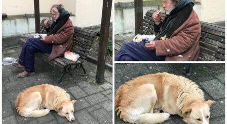 Un bărbat își va petrece Crăciunul pe străzile din Zalău, alături de Ciobi, câinele său – singura alinare pe care o mai are