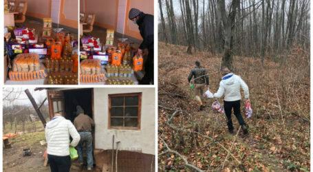 """Firma de construcții """"La Nașu"""" din Zalău a DONAT zeci de pachete cu alimente sălăjenilor izolați"""
