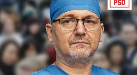 Doctorul Neaga susține că un vot dat lui este un vot pentru sănătate și educație