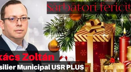 Consilierul local din Zalău, Takacs Zoltan vă urează Crăciun Fericit!