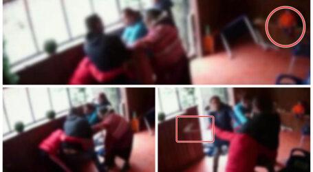 VIDEO. Un cuplu de îndrăgostiți, bătut crunt de trei femei pe o terasă din comuna Crișeni, în fața unui copil