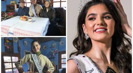 Una dintre cele mai frumoase femei din lume – Miss International și Miss Universe România – a vizitat, de Anul Nou, un muzeu tradițional din Sălaj