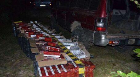 Contrabandă cu țigări în Sălățig. Ce au descoeprit polițiștii în mașina unui contrabandist