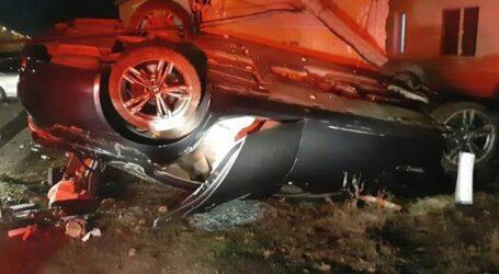 Un tânăr de 20 de ani, cu alcoolemime de 1 mg/l, s-a răsturnat cu mașina pe un drum din Sălaj