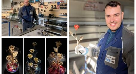 VIDEO. Povestea tânărului maestru fierar din Sălaj care realizează cei mai spectaculoși trandafiri din OȚEL