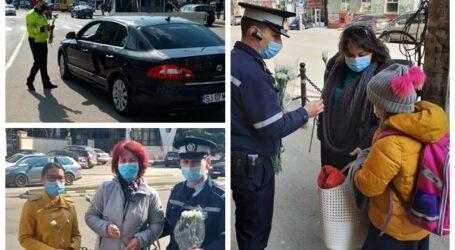 Poliția Locală Zalău s-a schimbat la față cu noua conducere! Agenții au împărțit astăzi flori domanelor și domnișoarelor în semn de respect și prețuire