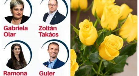"""Consilierii municipali ai USR-PLUS Zalău urează tuturor doamnelor și domnișoarelor """"La mulți ani"""""""