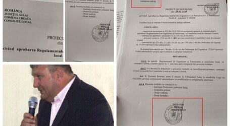 Gafă într-un document OFICIAL: un primar al PSD Sălaj a încurcat denumirea comunei pe care o conduce