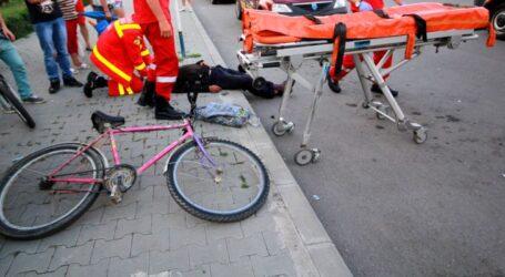 Accident în Zalău – un biciclist a fost lovit de o mașină