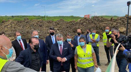 VIDEO. Premierul Cîțu a vizitat șantierul șoselei de centură a Zalăului