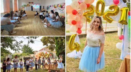 VIDEO. O tânără învățătoare dintr-un sat din Sălaj a organizat cea mai inedită festivitate de absolvire pentru copii
