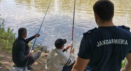 37 de sălăjeni, prinși de jandarmi la pescuit ilegal