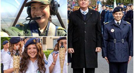 Povestea tinerei din Zalău decorată de președintele Iohannis cu Emblema de Onoare a Forțelor Aeriene Române