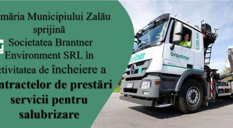Primăria Zalău sprijină societatea Brantner în activitatea de încheiere a contractelor de prestări servicii pentru salubrizare