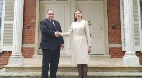 Întâlnire bilaterală între europarlamentarul Cristian Terheș și ambasadoarea Daniela Morari, șefa misiunii Republicii Moldova pe lângă UE