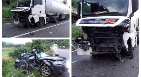 FOTO. Accident GRAV în comuna Gâlgău, pe drumul Baia Mare – Dej