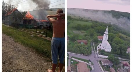 Exemplu de conviețuire! Cum s-a mobilizat întreaga comunitate din Șamșud pentru a ajuta o familie cu doi copii care a rămas pe drumuri, după un incendiu devastator