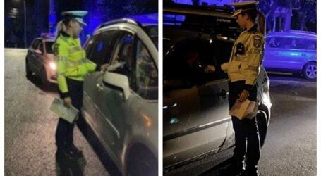 FOTO. Două polițiste din Zalău prind în fiecare seară câte un șofer drogat pe străzile din oraș