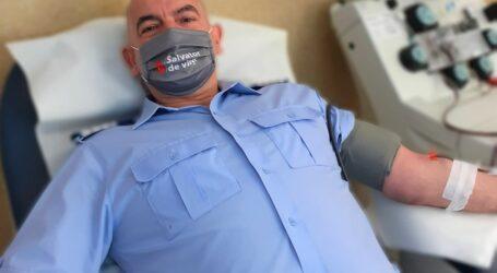 JOS PĂLĂRIA! Eroul dintre noi – un jandarm din Sălaj a donat sânge de 71 de ori