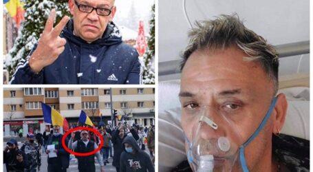"""Liderul protestelor anti-COVID din Zalău, infectat cu coronavirus. Mesajul DISPERAT al protestatarului: """"vaccinați-vă!"""""""