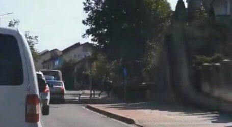 VIDEO. Bătaie în trafic, în centrul Zalăului
